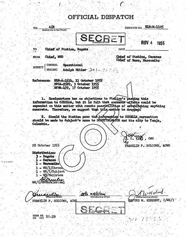 CIA yazışması