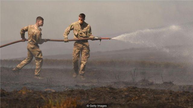如薩德爾沃思沼澤火災,野火污染最嚴重的階段就是陰燃。