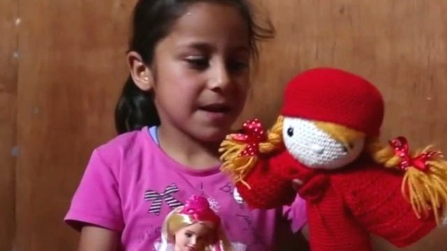 Rouaa and her doll