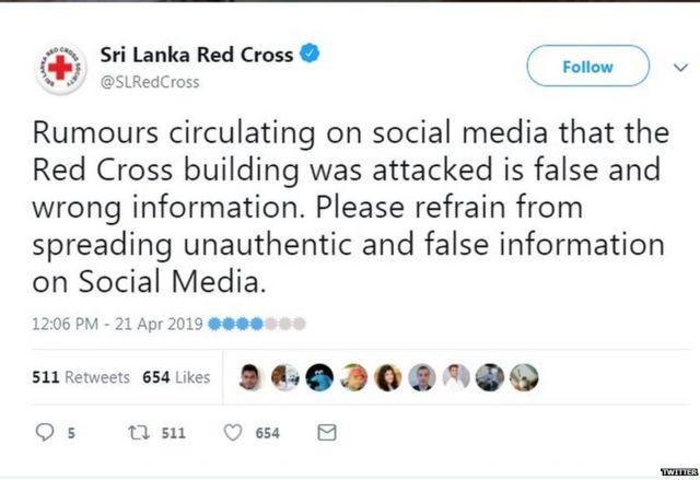 अफवांवर विश्वास ठेऊ नका, असं आवाहव रेड क्रॉसने केलं आहे.