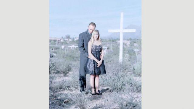 Nicole Roosma, de 17 anos, com o pai, Will, no Arizona