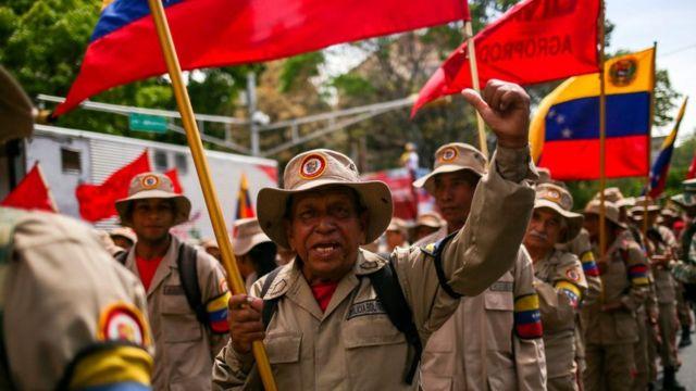 Membros da Milícia Bolivariana