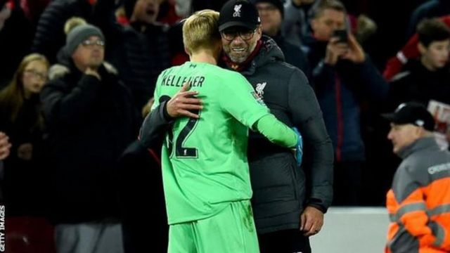 "Umutoza Klopp wa Liverpool yavuze ko umunyezamu Kelleher ari ""impano idasanzwe'"