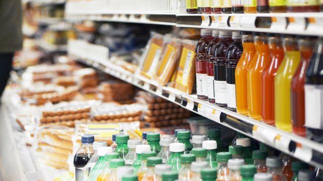 Comidas processadas em supermercado
