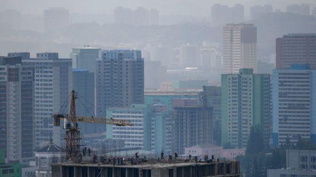 Пхеньян в дымке