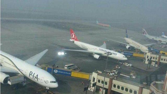 لاہور ایئرپورٹ کا منظر