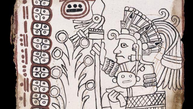 Fragmento de la página 8 del Códice Grolier