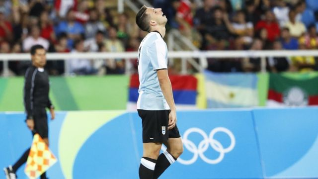Un jugador argentino se lamenta