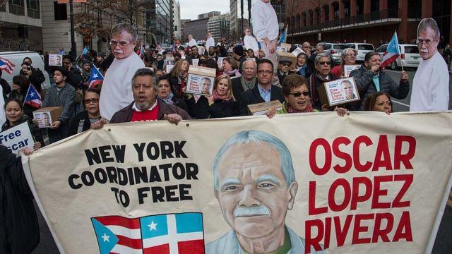 Marcha a favor de la liberación de Óscar López.