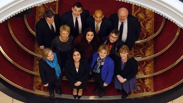 Одиннадцать членов новой Независимой группы в британской палате общин