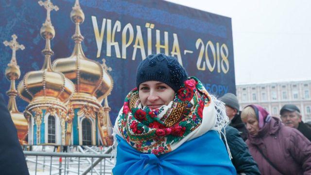 Несмотря на холод, у киевлян было приподнятое настроение