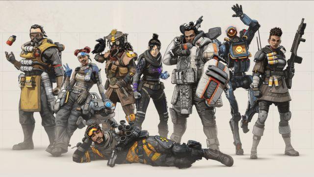 Personagens do jogo Apex Legends