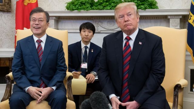 ترامب يلتقي الرئيس الكوري الجنوبي في البيت الأبيض