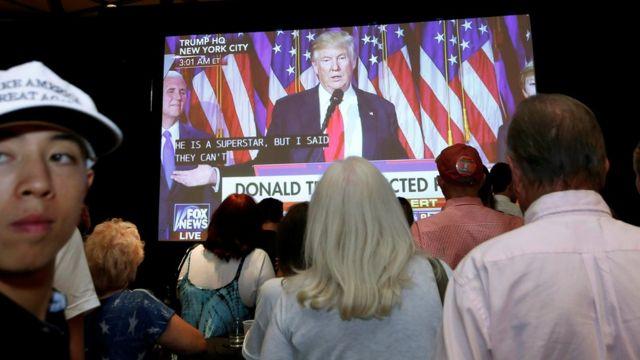 القى ترامب خطابا امام انصاره