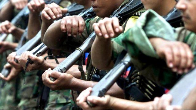 Combatientes de las FARC. Foto de archivo