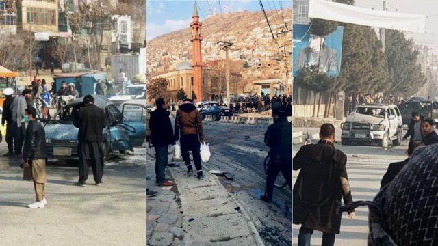 کابل کې درې چاودنې
