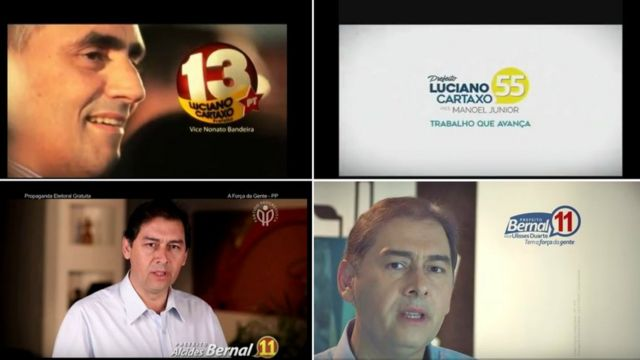 Campanhas de 2012 e 2016 de Luciano Cartaxo e Alcides Bernal