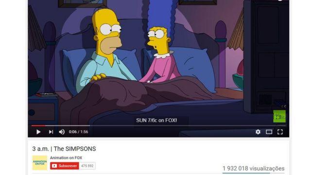 Cena de clipe dos Simpsons
