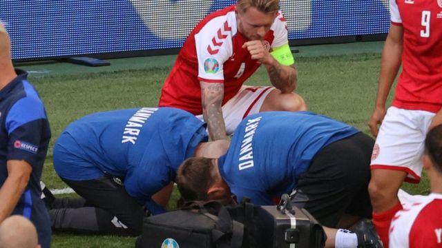 Doctors treat Eriksen