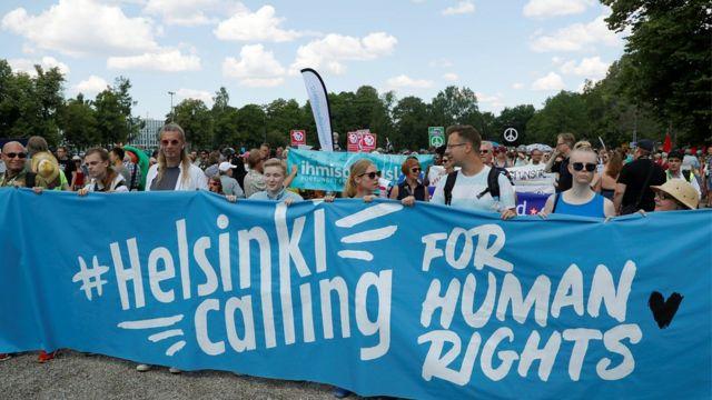 Helsinki protest