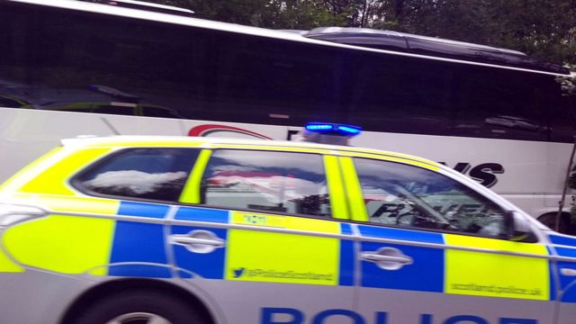 Coach and car in crash on A82 in Glen Coe