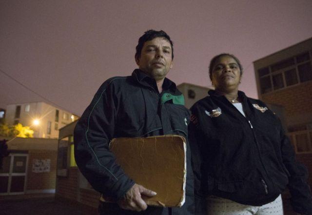 Iris Mendoza y su marido, Pedro Carreño.