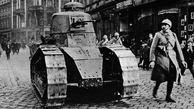 Tanque FT en 1919