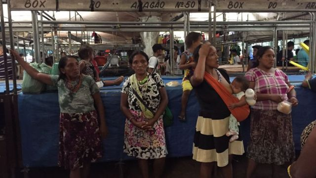 Indígenas em Belém