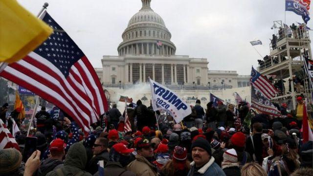 US Capitol on lockdown: Capitol building inside Washington shut because of  'security threat' days to Biden inauguration - BBC News Pidgin