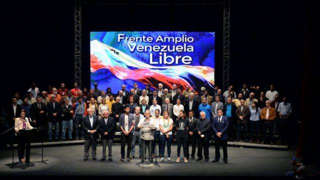 Una reunión del Frente Amplio.