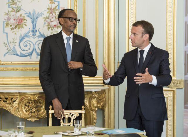 Mu kwa gatanu mu 2018 ubwo Perezida Paul Kagame w'u Rwanda yari mu ruzinduko i Paris, akakirwa na mugenzi we w'Ubufaransa Emmanuel Macron