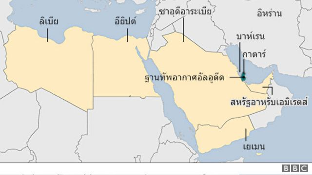 แผนที่ 6 ชาติตัดสัมพันธ์กาตาร์