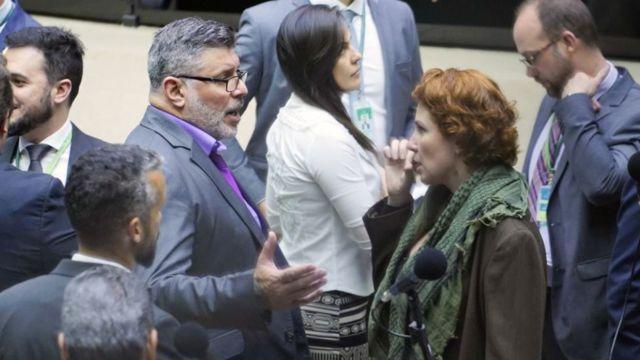 Alexandre Frota e Carla Zambelli