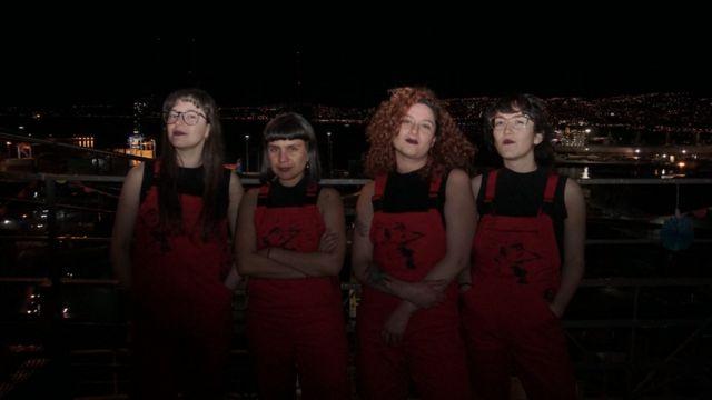 Las 4 integrantes de Las Tesis.