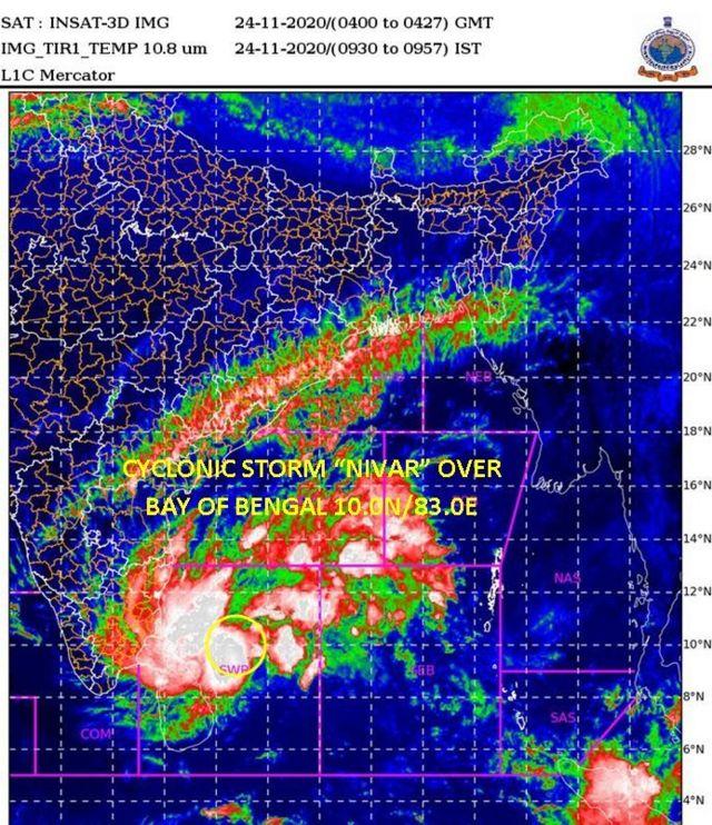 nivar cyclone update in tamil