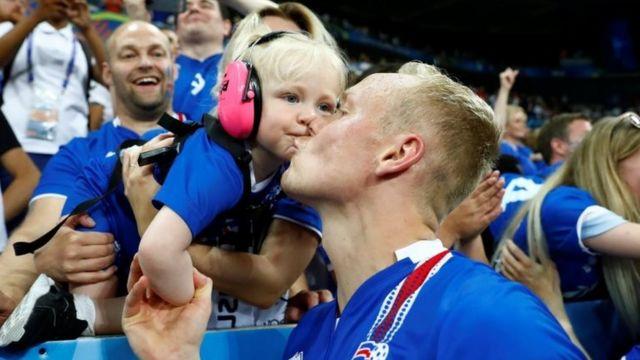 Исландский футболист