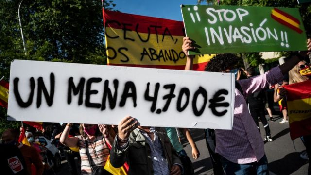 In Madrid there were rallies organized by far-right groups to protest against what they qualify as a