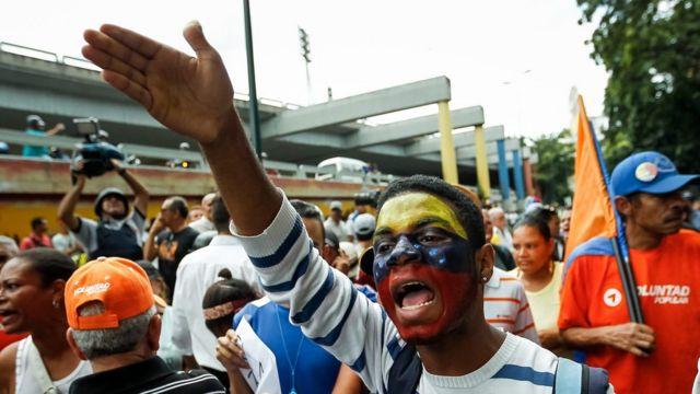 Manifestante a favor do plebiscito