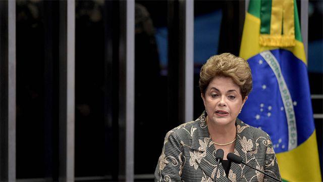 Dilma fez seu discurso de defesa no Senado na segunda-feira