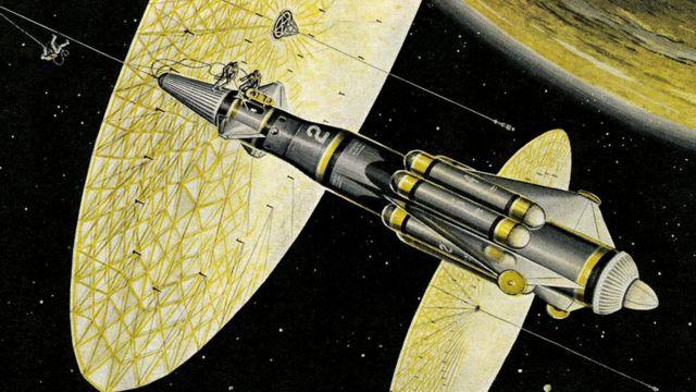 Фантазии из прошлого: космические корабли, привязанные к громадным дискам. Нельзя ли позаимствовать эту идею для кораблей будущего?