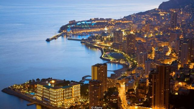 Vista aérea de Mônaco