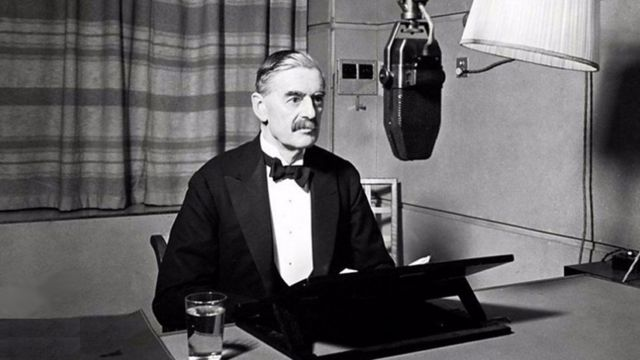 Neville Chamberlain declarando la guerra
