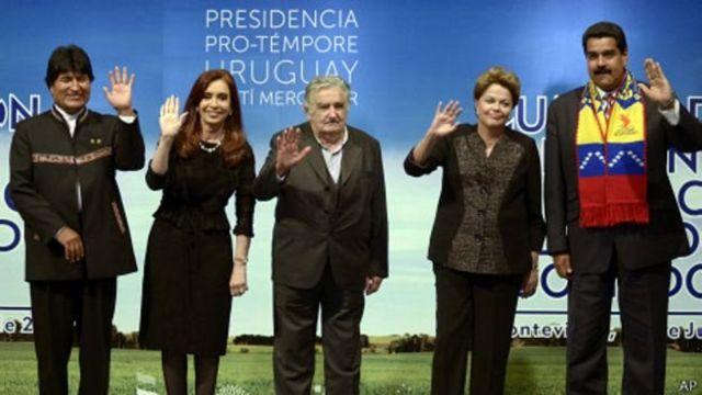 Presidentes de izquierda de América Latina.