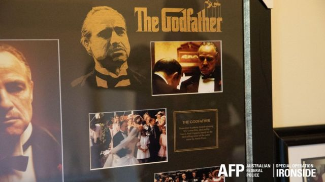 A photo of Godfather posters