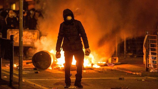 2016年的農曆新年旺角騷亂。