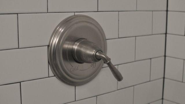 Manecilla del agua de la ducha
