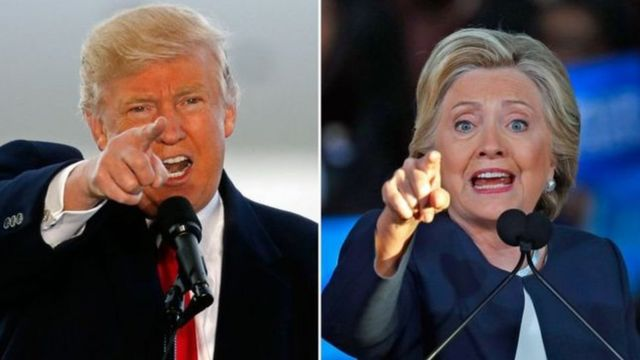 Clinton na Trump