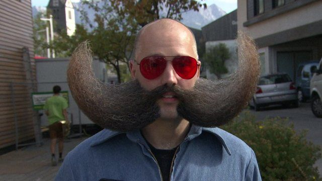 Man with a large moustache