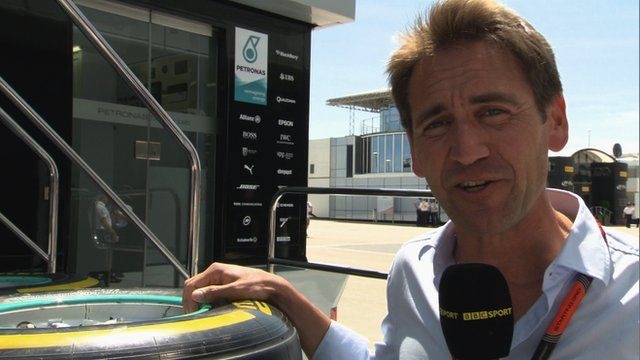 BBC F1 pit lane reporter Tom Clarkson