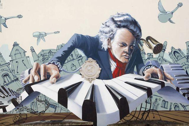 Grafiti de Beethoven en Bonn, Alemania